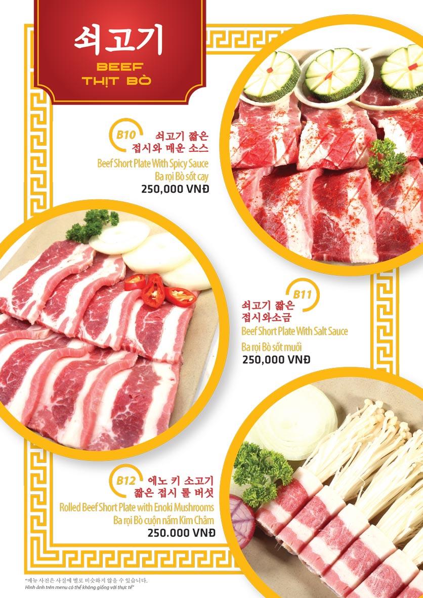Menu Ulsan BBQ - Thái Văn Lung 6