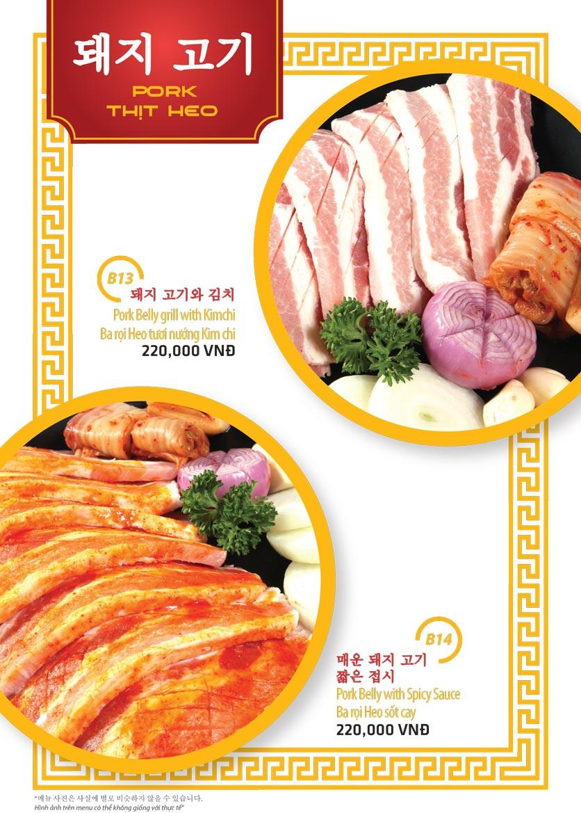 Menu Ulsan BBQ - Thái Văn Lung 7