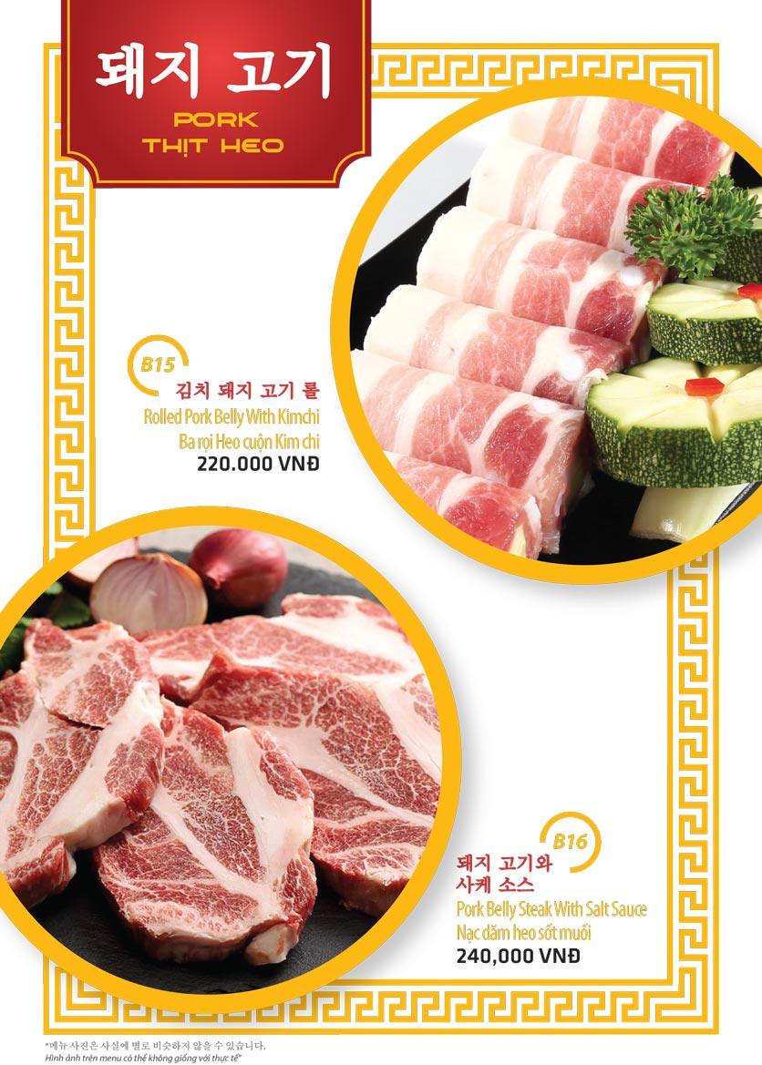 Menu Ulsan BBQ - Thái Văn Lung 8