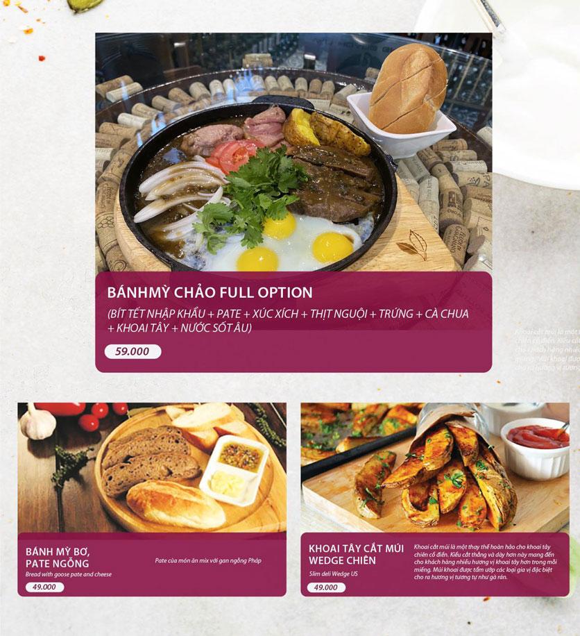 Menu Vân Hoàng Group – Restaurant & Wine Shop – Văn Quán  9