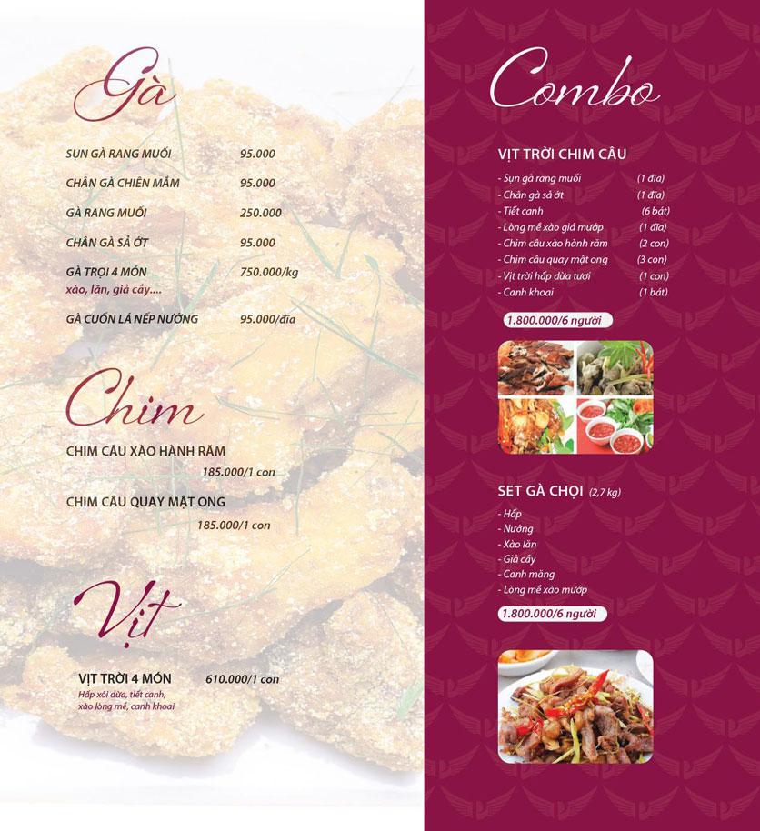 Menu Vân Hoàng Group – Restaurant & Wine Shop – Văn Quán  13
