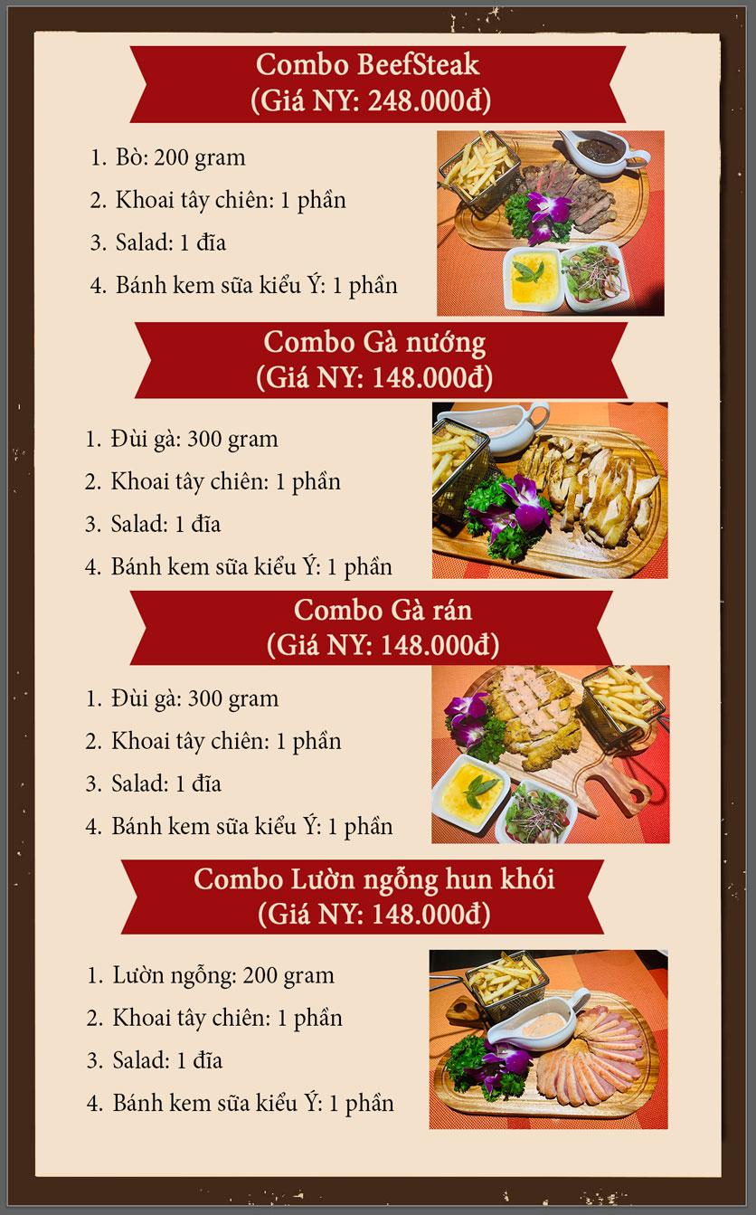 Menu Vân Hoàng Group – Restaurant & Wine Shop – Văn Quán  1