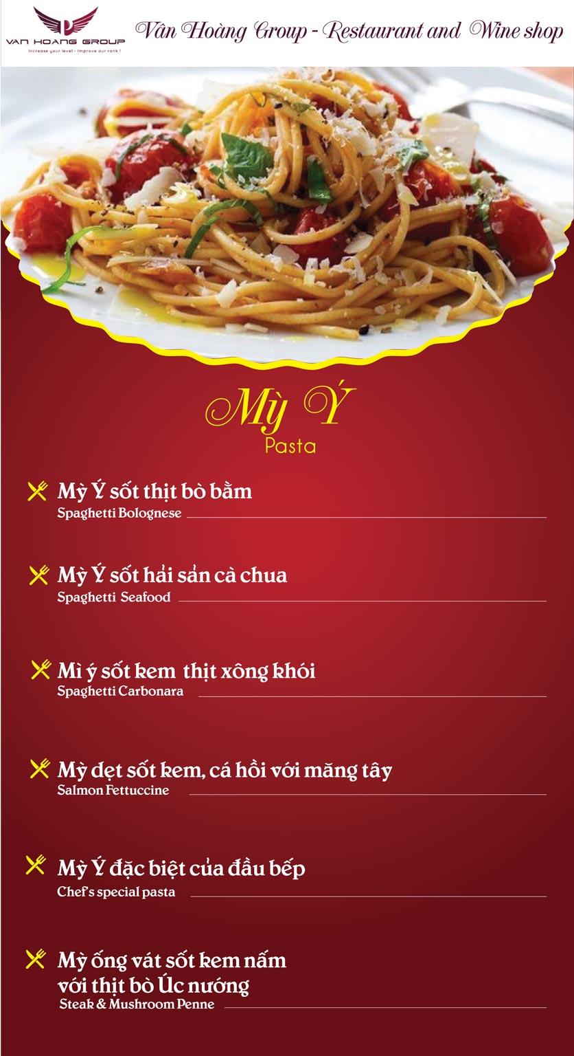 Menu Vân Hoàng Group – Restaurant & Wine Shop – Văn Quán  5