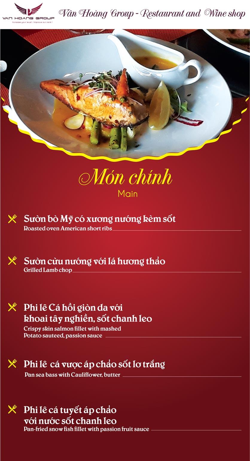 Menu Vân Hoàng Group – Restaurant & Wine Shop – Văn Quán  7