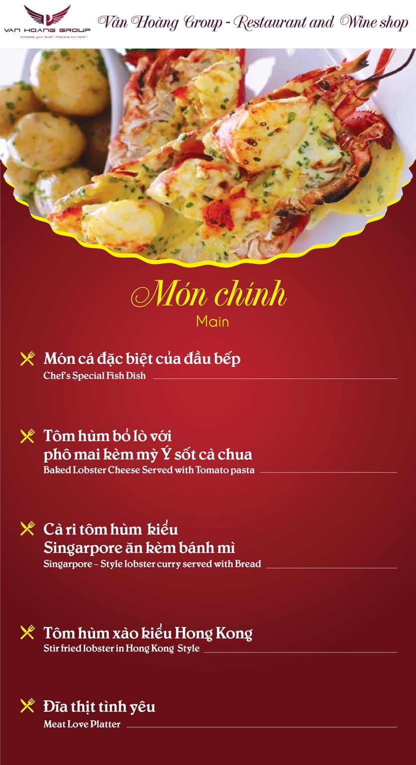 Menu Vân Hoàng Group – Restaurant & Wine Shop – Văn Quán  8
