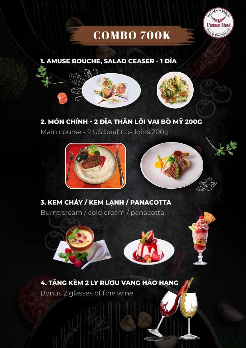 Menu VanHoangGroup - L'amour  Steak - Nam Cao 10