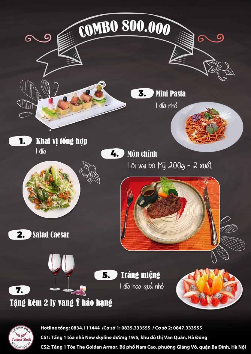 Menu VanHoangGroup - L'amour  Steak - Nam Cao 11