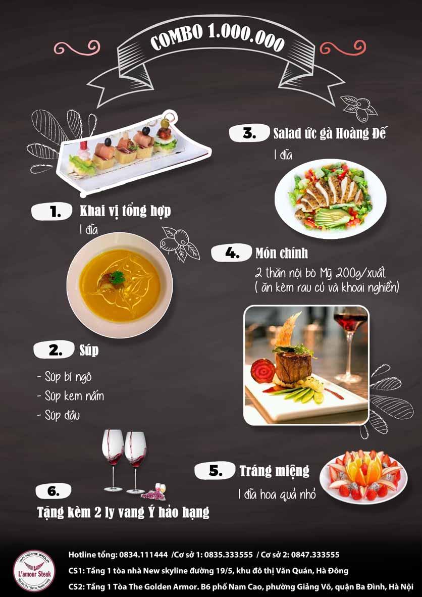 Menu VanHoangGroup - L'amour  Steak - Nam Cao 12