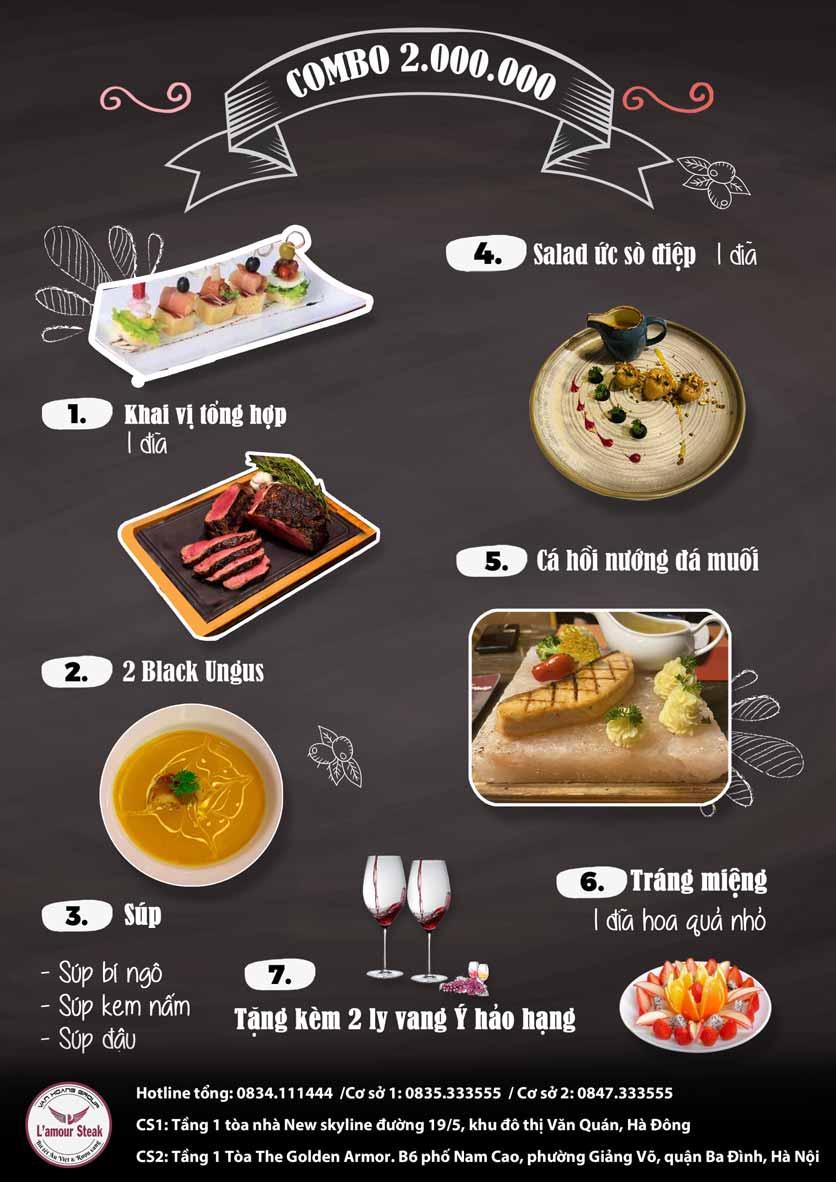 Menu VanHoangGroup - L'amour  Steak - Nam Cao 13