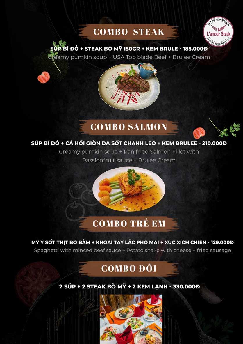 Menu VanHoangGroup - L'amour  Steak - Nam Cao 8