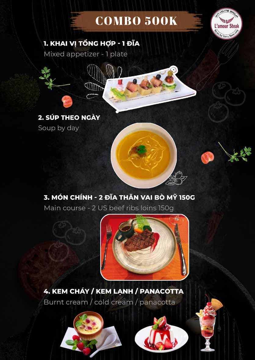 Menu VanHoangGroup - L'amour  Steak - Nam Cao 9