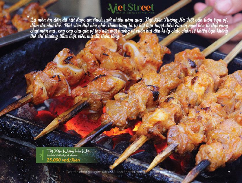 Menu VietStreet – Vincom Nguyễn Chí Thanh 10