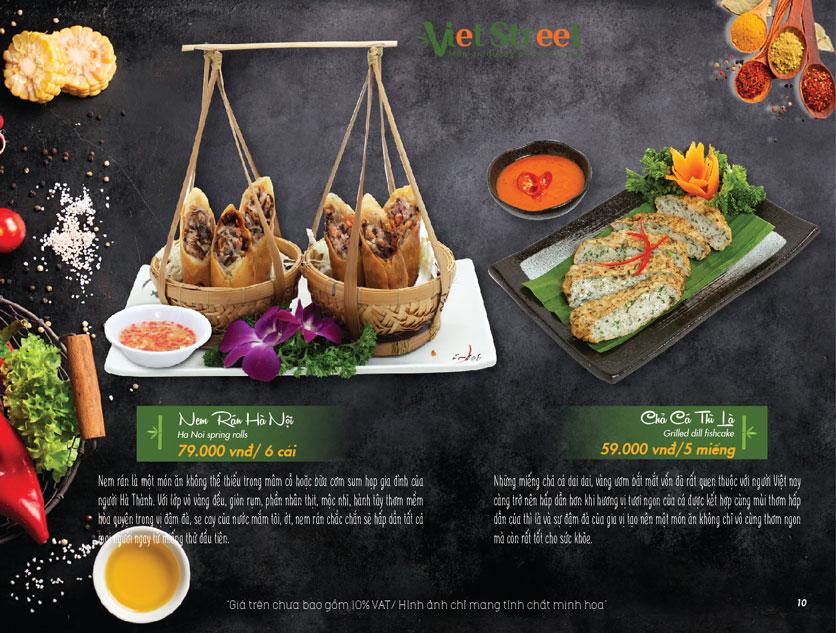 Menu VietStreet – Vincom Nguyễn Chí Thanh 11