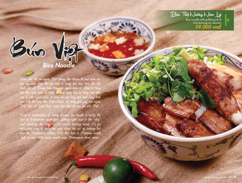 Menu VietStreet – Vincom Nguyễn Chí Thanh 16