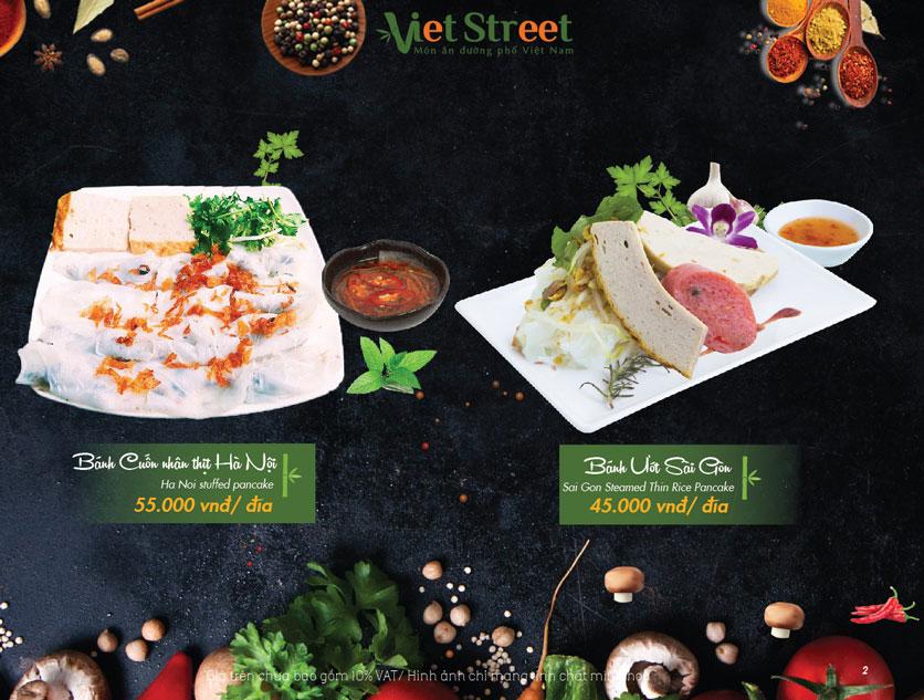 Menu  VietStreet - Vincom Trần Duy Hưng 2