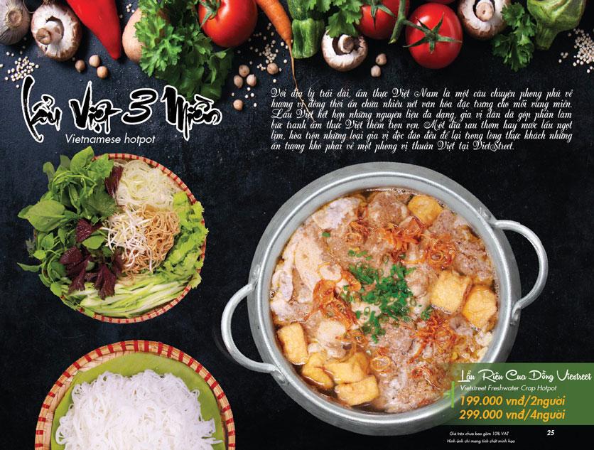 Menu VietStreet – Vincom Nguyễn Chí Thanh 24