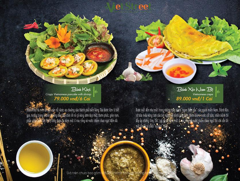 Menu VietStreet – Vincom Nguyễn Chí Thanh 4