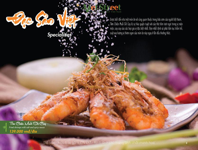 Menu VietStreet – Vincom Nguyễn Chí Thanh 5