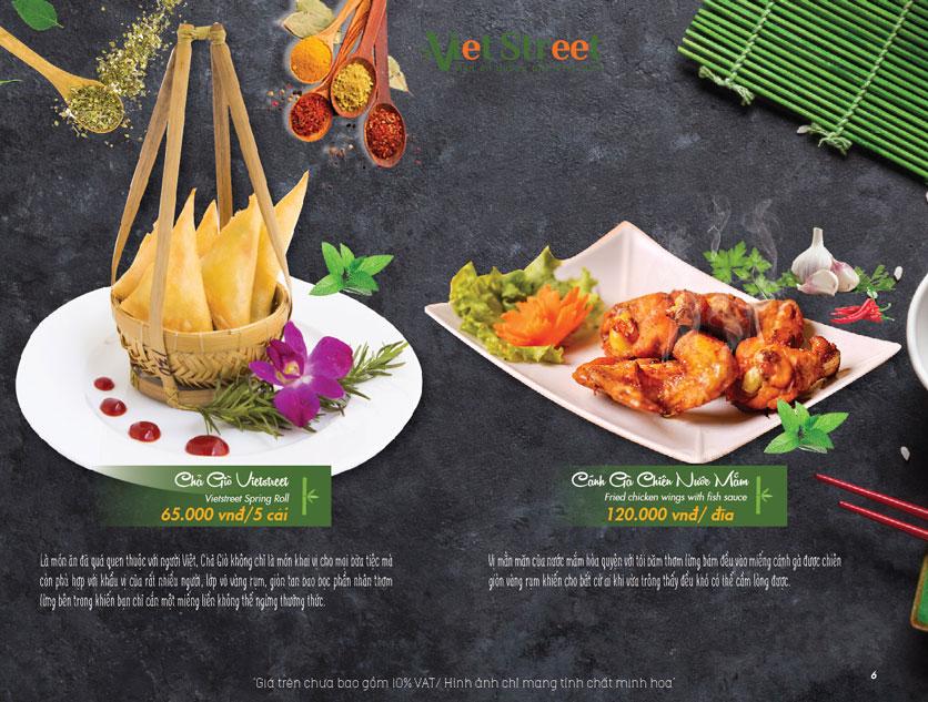 Menu VietStreet – Vincom Nguyễn Chí Thanh 6