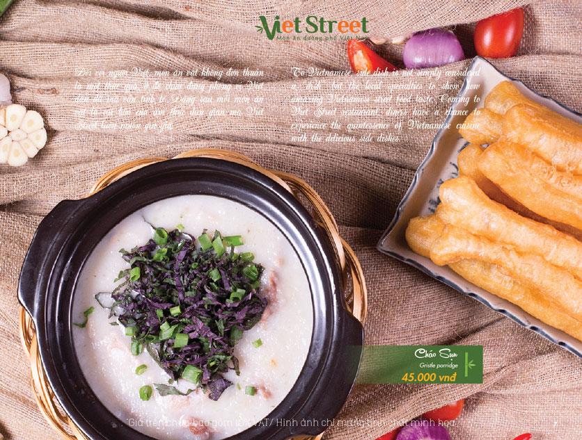 Menu  VietStreet - Vincom Trần Duy Hưng 7