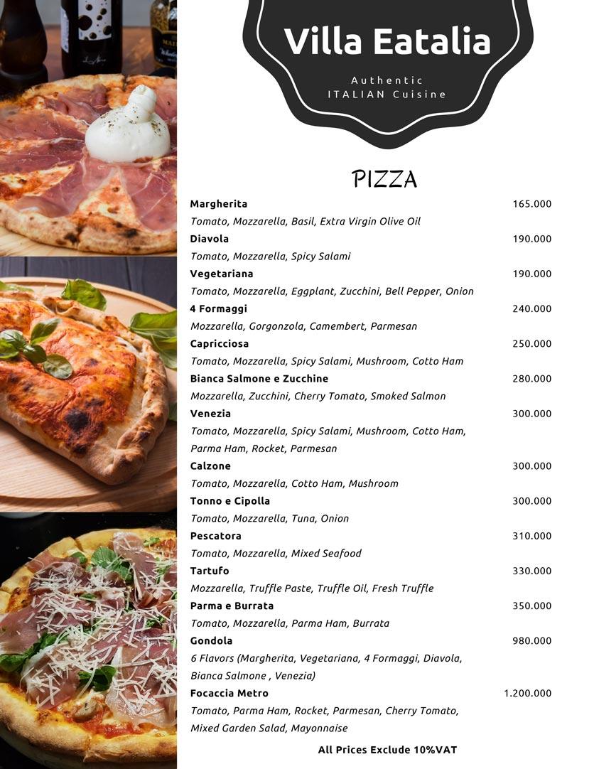 Menu Villa Eatalia - Italian Food - Quảng Bá  5