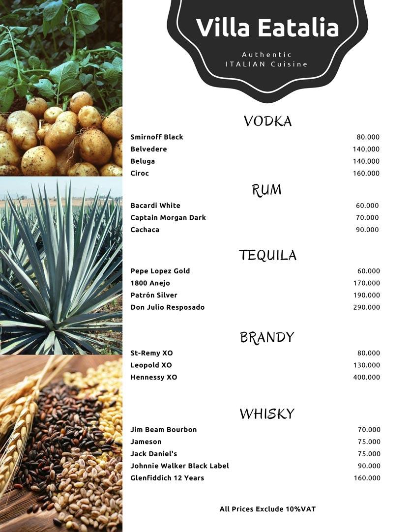 Menu Villa Eatalia - Italian Food - Quảng Bá  9