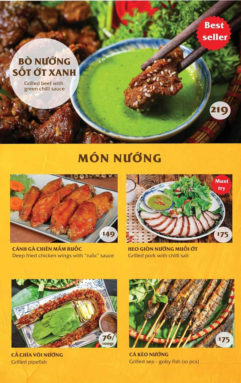 Menu Vị Quảng – Nguyễn Chí Thanh 1