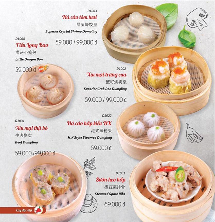 Menu Wenxing HongKong - Thái Hà 10