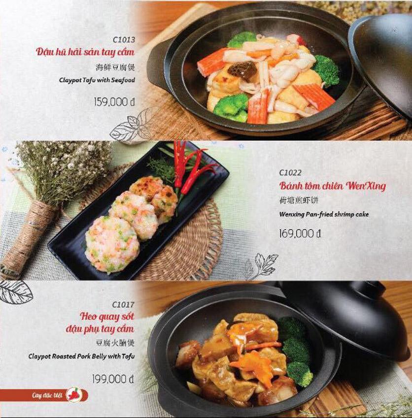 Menu Wenxing HongKong - Thái Hà 14