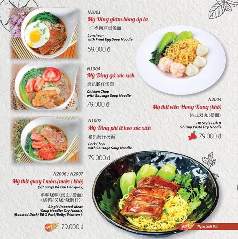 Menu Wenxing HongKong - Thái Hà 45