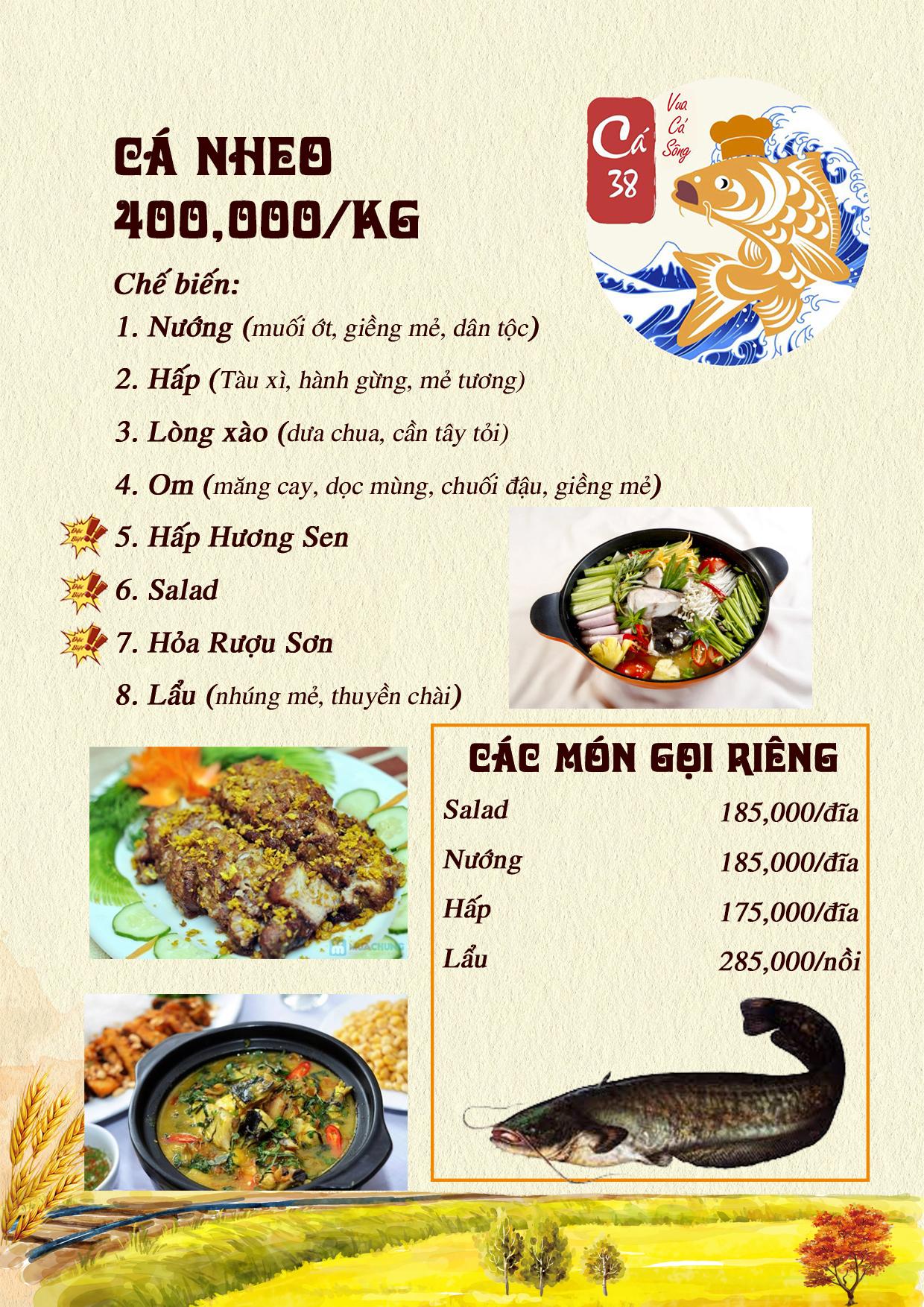 Menu Cá 38- Vua cá sông – 38 Trần Kim Xuyến  3