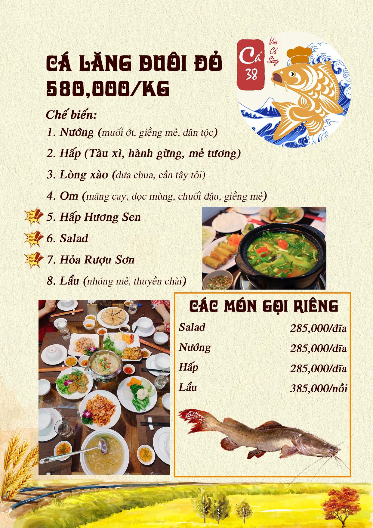 Menu Cá 38- Vua cá sông – 38 Trần Kim Xuyến  5