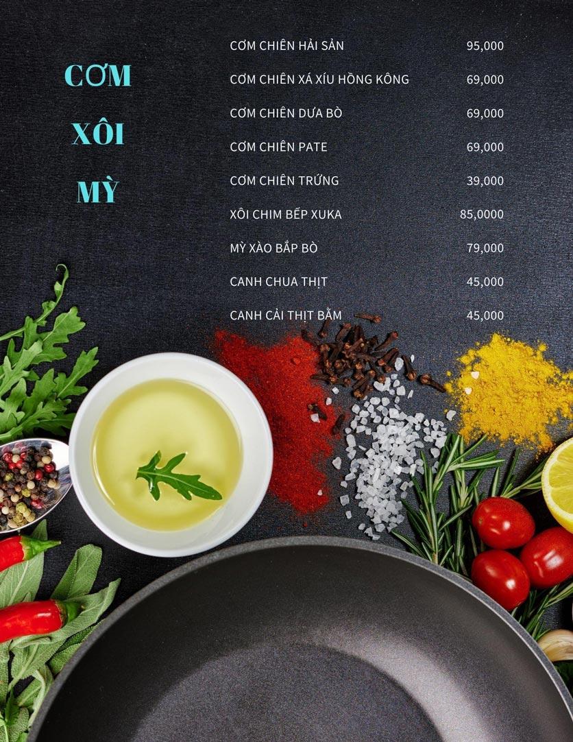 Menu Bếp Xuka - Nhà Chung 2