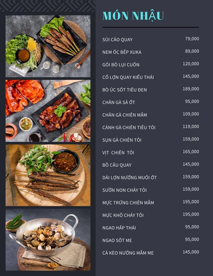 Menu Bếp Xuka - Nhà Chung 3