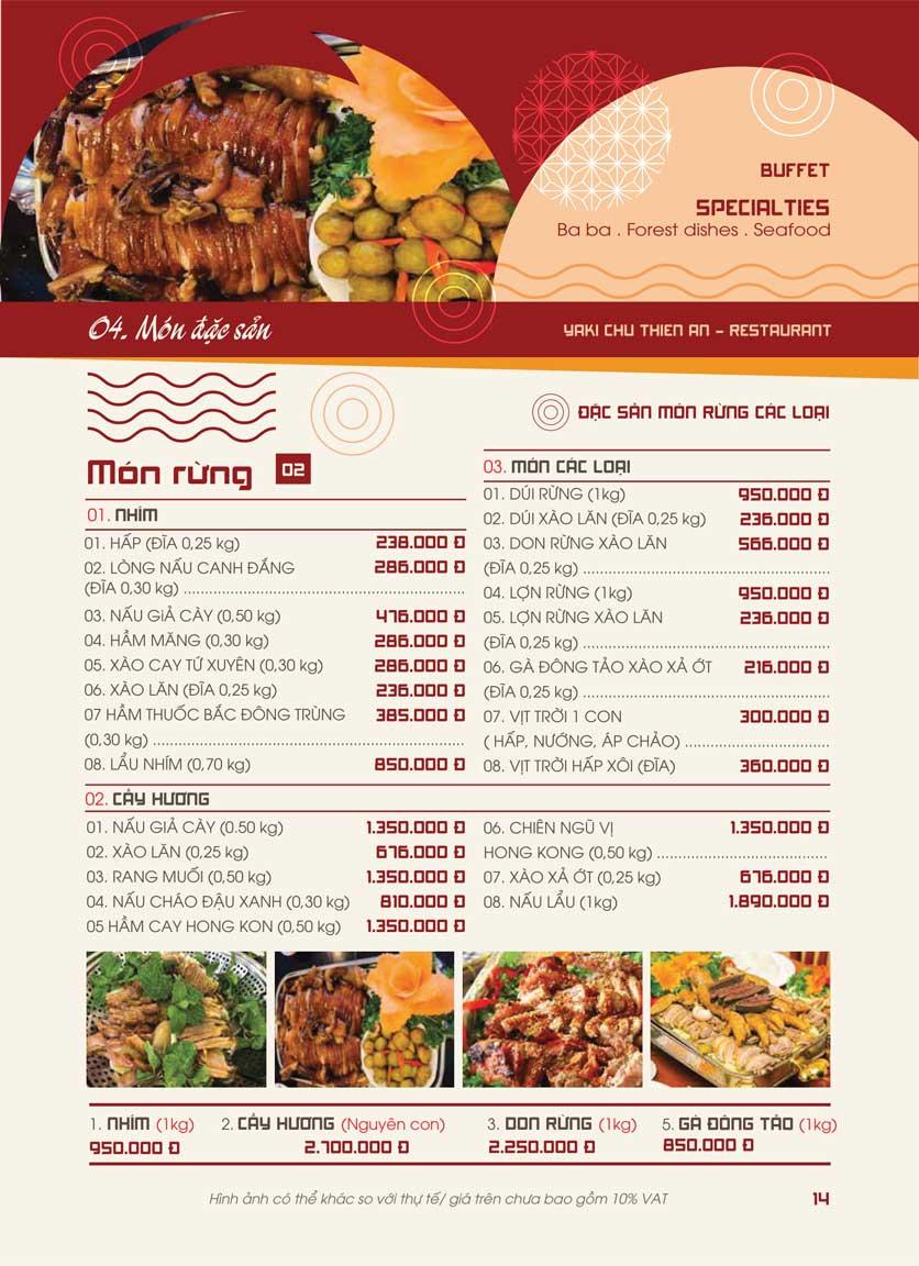 Menu Panxin - Minh Khai 12