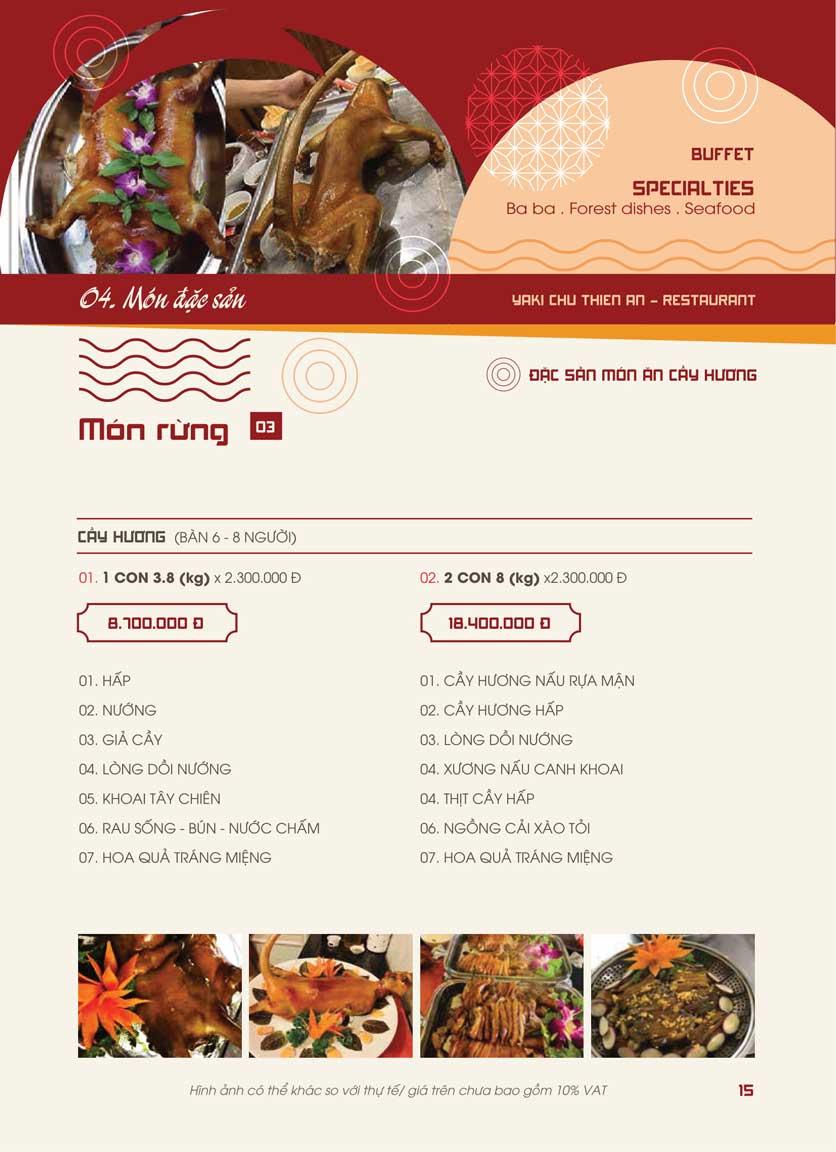 Menu Panxin - Minh Khai 13