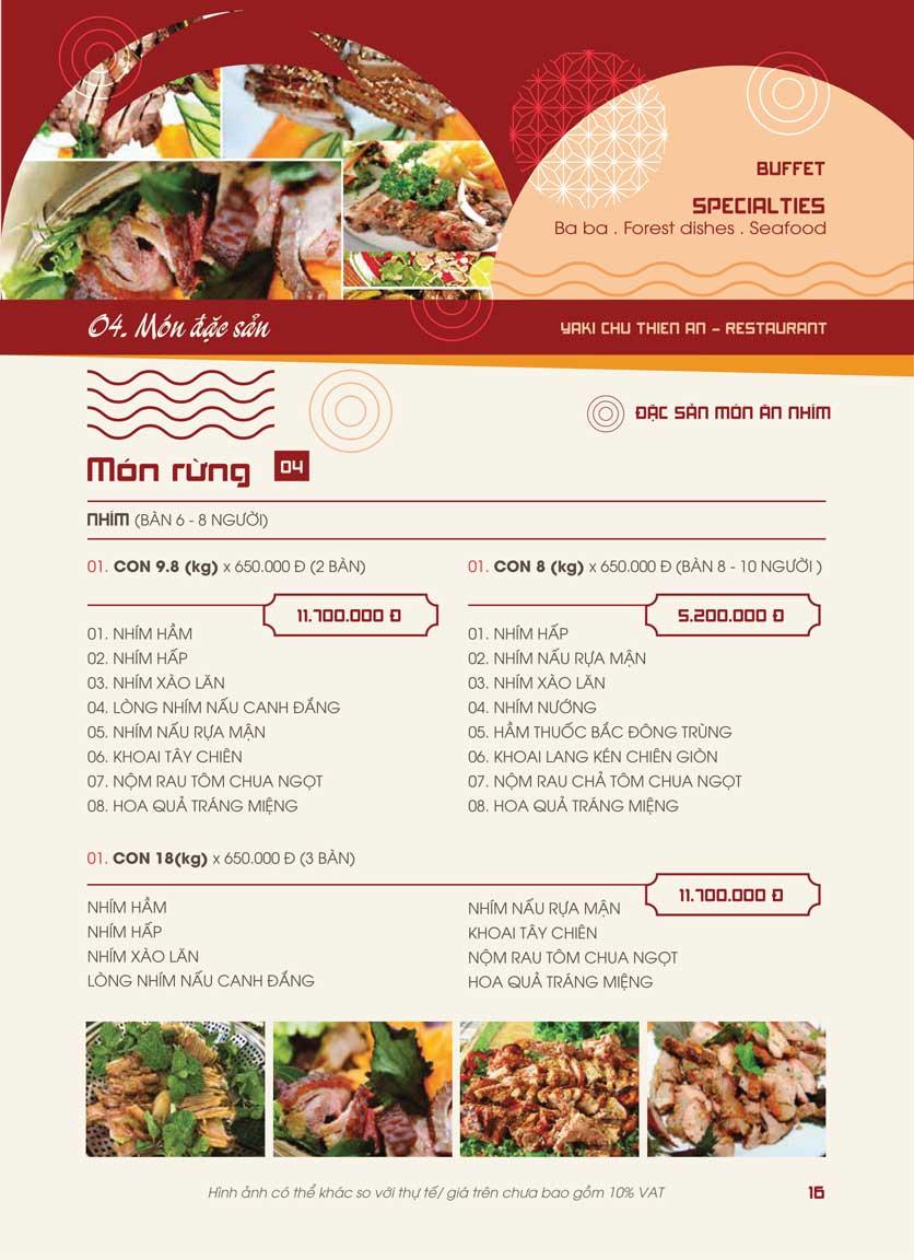 Menu Panxin - Minh Khai 14