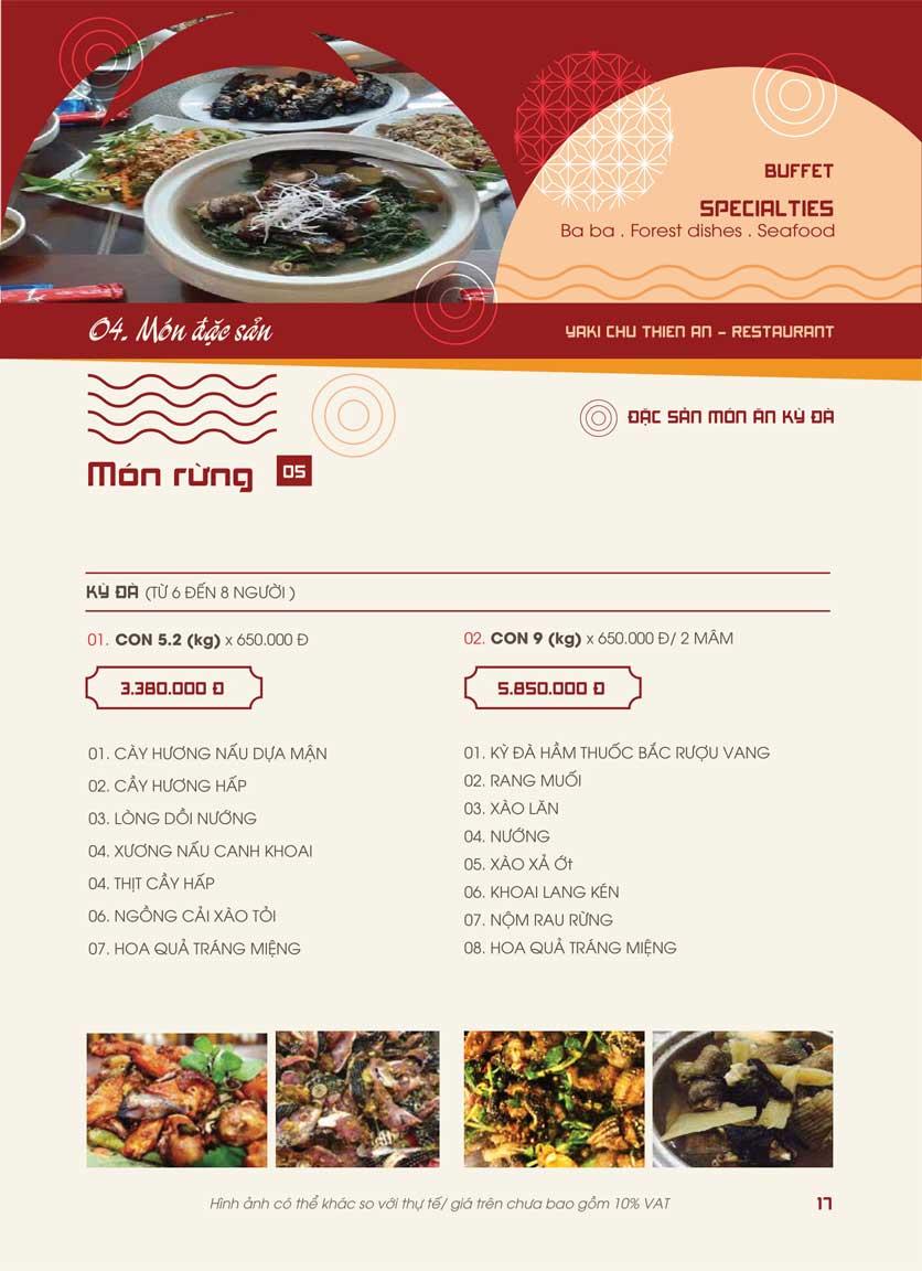 Menu Panxin - Minh Khai 15