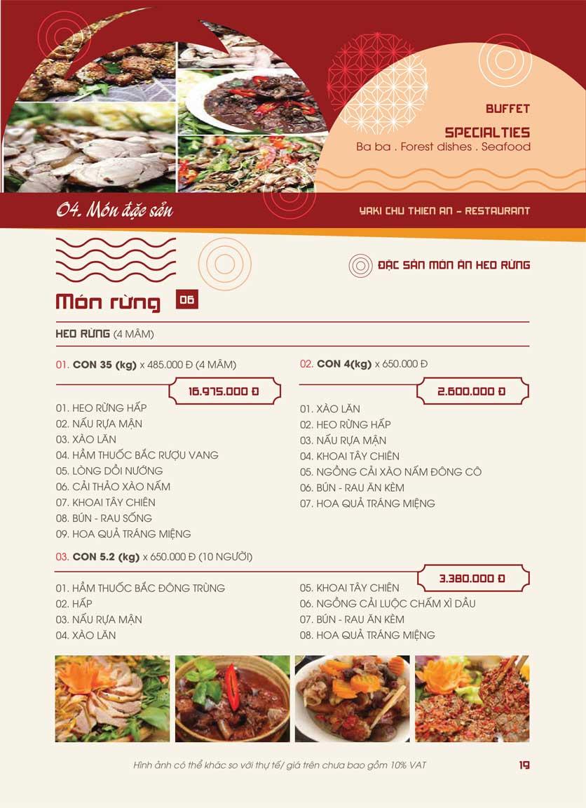 Menu Panxin - Minh Khai 16