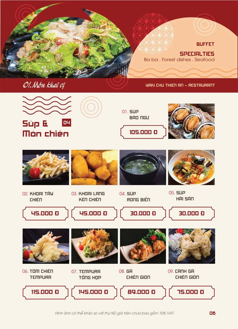 Menu Panxin - Minh Khai 4