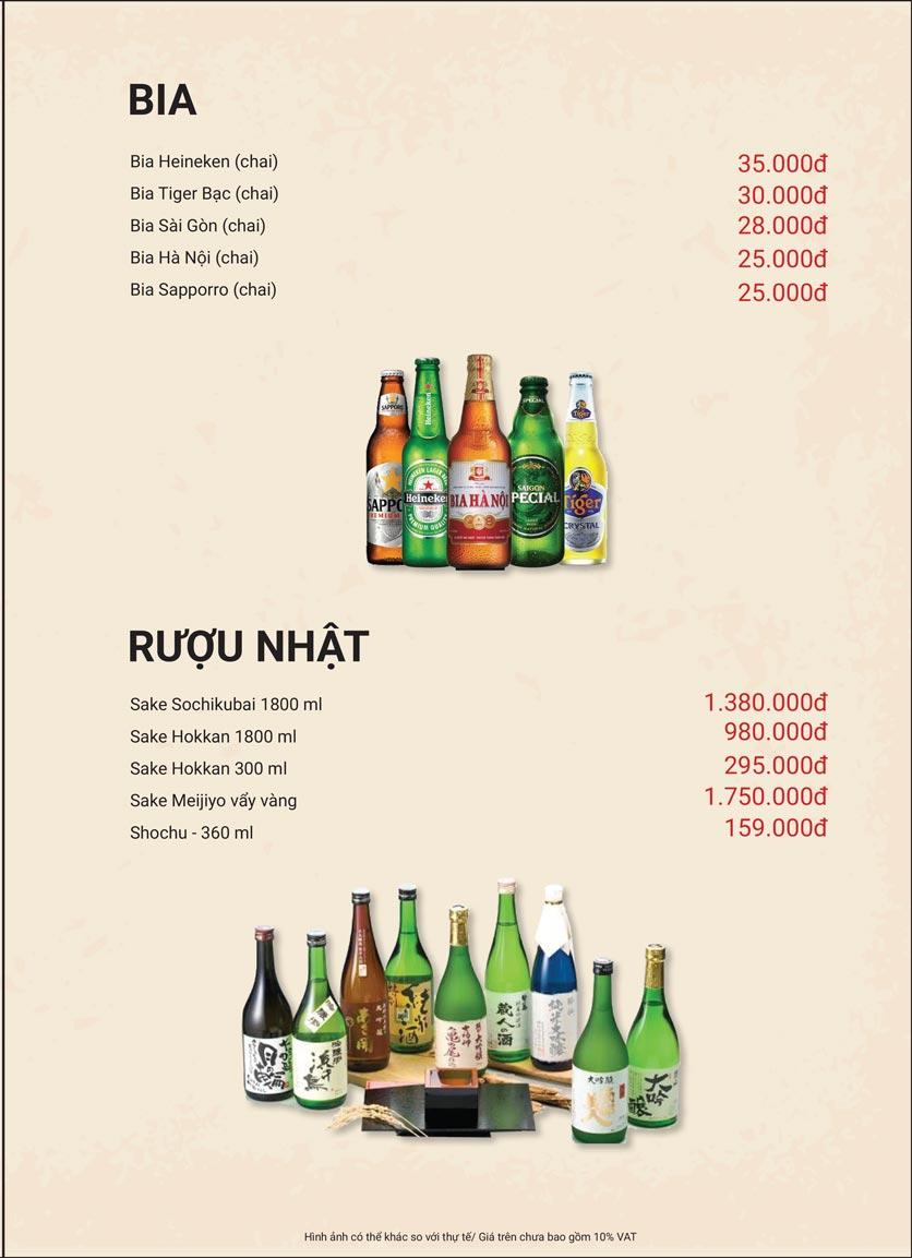 Menu Yaki Nabesu - Lê Văn Lương 21