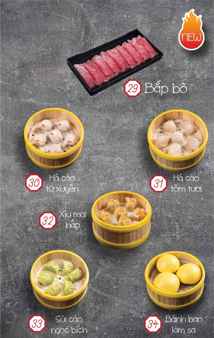Menu Yixin - Lẩu Hồng Kông - Láng Hạ 7