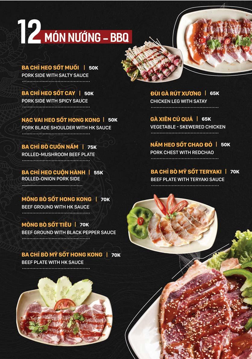 Menu Yuán BBQ & Hotpot - 302 Cầu Giấy 3