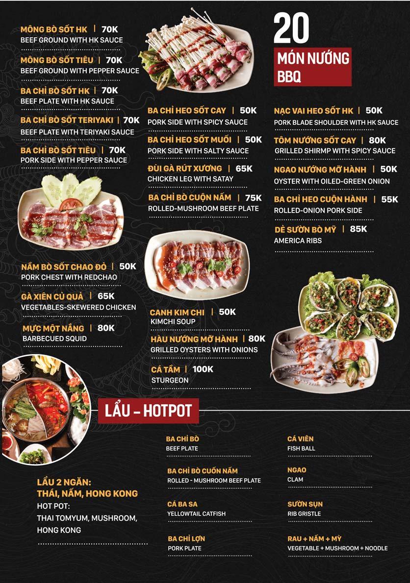 Menu Yuán BBQ & Hotpot - 302 Cầu Giấy 5