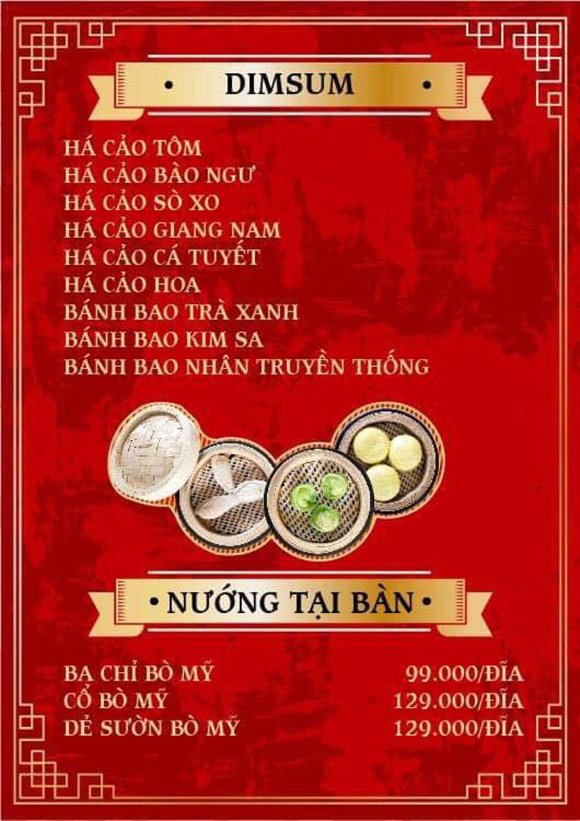 Menu Yum Hy - Chợ ẩm thực Ngọc Lâm 2