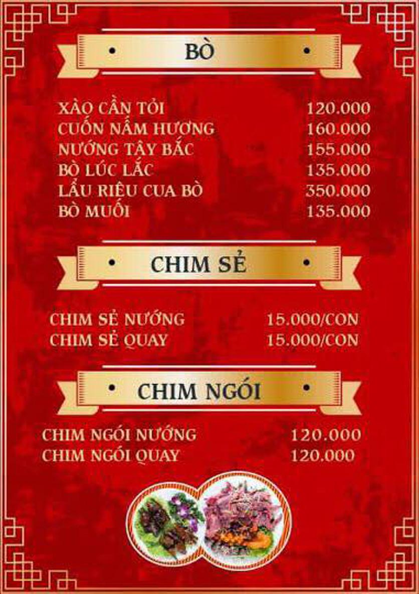 Menu Yum Hy - Chợ ẩm thực Ngọc Lâm 3