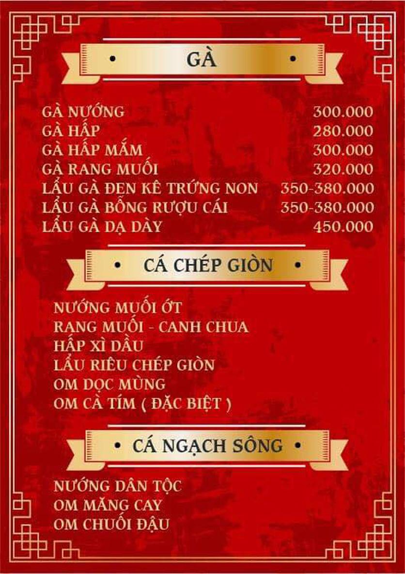 Menu Yum Hy - Chợ ẩm thực Ngọc Lâm 4