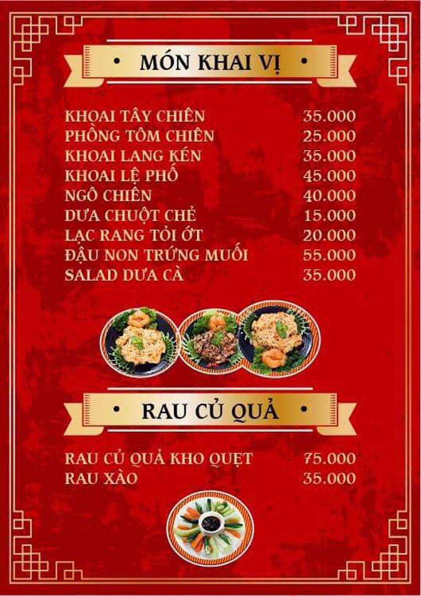 Menu Yum Hy - Chợ ẩm thực Ngọc Lâm 6