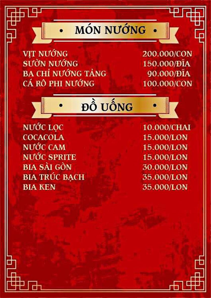 Menu Yum Hy - Chợ ẩm thực Ngọc Lâm 7