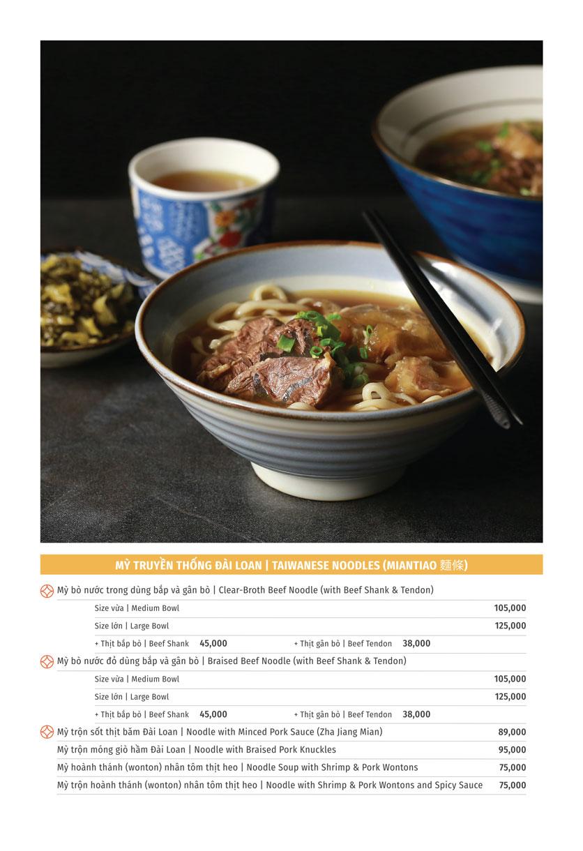 Menu Yu Tang Dining - Big C Thăng Long  1